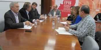 Reunión de Carlos Martinez con el PSOE Aragón