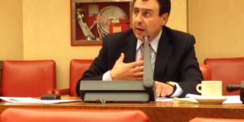 El diputado socialista Félix Lavilla en la pregunta oral