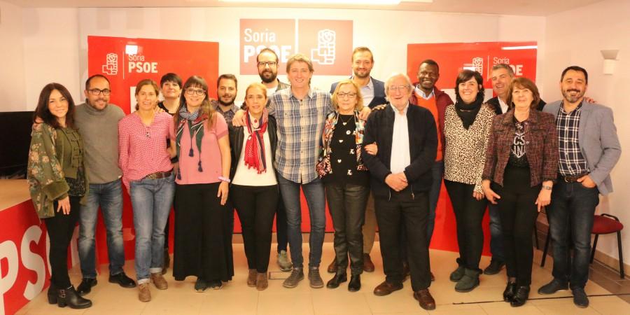 Candidatura socialista para ayuntamiento de Soria, mayo 2019